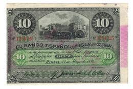 Cuba 10 Pesos 1896. PLATA. VF/XF. (7 Dig.) - Cuba