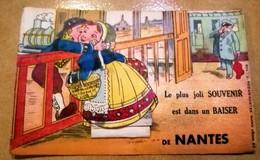NANTES CARTE A SYSTEME COMPLETE DES SES GARE TRAIN STATION J. NOZAIS-NANTES - Nantes