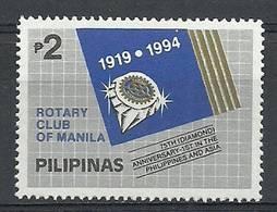 Philippines 1994 Mi 2376 MNH ( ZS8 PLP2376 ) - Rotary, Lions Club