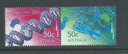 Australia 2003 Genetics Se-tenant Pair MNH - 2000-09 Elizabeth II