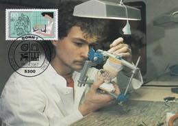 Germany Maximum Card 1987: Crafts; Handswerkberufe; Zahntechnicker; Dental Technicians - Berufe