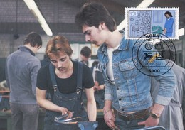 Germany Maximum Card 1987: Crafts; Handswerkberufe; Instllateur; Plumber - Berufe