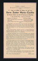 EERW.ZUSTER MARIA CECILIA / CELINA LATEUR - MENEN 1868 - 1947 - Décès