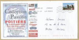 Enveloppe Entière Poitiers 32ème Salon 2016 - Timbre Château De Bon-Repos 06-11-2019 - Marcophilie (Lettres)