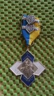 Medaille :Netherlands  - W.S.V Blauw - Wit 10 - Ede .  / Vintage Medal - Walking Association . - Nederland