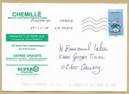 Enveloppe Entière Chemillé (49) 29e Salon 13-10-2019 Agecanonix 27-11-2019 - Marcophilie (Lettres)