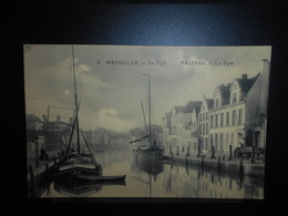 44-MALINES MECHELEN  De Dijle La Dyle Bateau Boat Peniche **ENVOI GRATIS VERZENDING FREE SHIPPING** - Malines