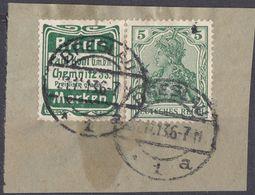 DEUTSCHES REICH - Germania 5 Pf Usato Con Vignetta Pubblicitaria: Michel R 10 Su Frammento Di Busta. - Gebraucht