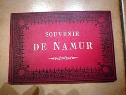 CARNET DE 12 PHOTOGRAPHIES XIXeme : NAMUR CITADELLE KURSAAL AREMBERG FLOREFFE PHOTO ALBUMINE BELGIQUE 1890 - Namur