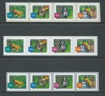 Australia 2003 Rain Forest Fauna Peel & Stick Strips Of 4 X 3 Different Printings MNH - 2000-09 Elizabeth II