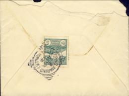 1916-San Marino Busta Affrancata 5c.Veduta Stilizzata,isolato - San Marino