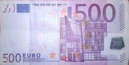 500 EURO ALEMANIA(X) Low Nummer, R014A1  First Position, Año 2002, Segunda Firma TRICHET - EURO
