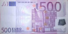 500 EURO ALEMANIA(X) Low Nummer, R017, Año 2002, Segunda Firma TRICHET - EURO