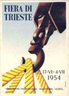 1954- Cartolina Fiera Di Trieste Riduzioni Ferroviarie,marittime Ed Aeree - Ferias