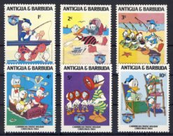 1984-(MNH=**) Antigua E Barbuda Serie 6 Valori Natale,Disney - Antigua Et Barbuda (1981-...)