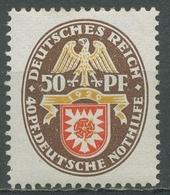 Deutsches Reich 1929 Deutsche Nothilfe Landeswappen 434 Mit Falz - Alemania