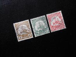 D.R.24/25/26a   3/5/10Pf   Deutsche Kolonien (Deutsch-Südwestafrika) 1906 - Mi 8,00 € - Colony: German South West Africa