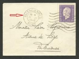 31.12.1946 / Dernier Jour Du Tarif / Carte De Visite à 1F De VALENCIENNES Affr. Marianne De Dulac - Marcophilie (Lettres)