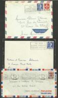 Lot 3 Flammes Différentes / ORAN 1960 - SIDI BEL ABBES 1958 - ALGER GARE 1959 - Algérie (1924-1962)