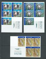 Australia 2005 Bush Wildlife Fauna Set Of 3 International Stamps Peel & Stick Sheets Of 5 MNH - 2000-09 Elizabeth II
