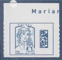 = Marianne Et La Jeunesse TVP Europe -20g Neuf DataMatrix Ciappa Et Kawena Adhésif 1176 Avec Haut De Feuille - 2013-... Marianne De Ciappa-Kawena
