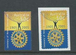 Australia 2005 Rotary 50c Single & SNP Peel & Stick Single MNH - 2000-09 Elizabeth II