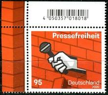 BRD - Mi 3515 ECKE LIO - ** Postfrisch (B) - 95C             Pressefreiheit - Ausgabe 02.01.2020 - Unused Stamps