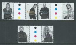 Australia 2005 Fashion Designers Set Of 3 Gutter Pairs MNH - 2000-09 Elizabeth II