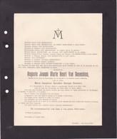 HERENTHALS ERENTALS Auguste VAN GENECHTEN Veuf EVERAERT 1856-1921 Famille NOLS DIERCXSENS SCHOETERS - Obituary Notices