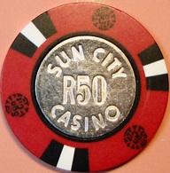 R50 Casino Chip. Sun City Casino, Sun City, South Africa. S45. - Casino