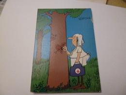Infirmière Osculte Un Arbre     ( Ecrite + Timbre   ) Editions Borde  Dessin Pelotsch - Humour