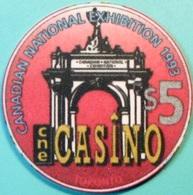 $5 Casino Chip. CNE, Ontario, CAN. National Exhibition 1993. S46. - Casino