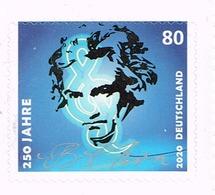 Bund 2020, Michel # 3520 ** 250. Geburtstag Von Beethoven, Selbstklebend - [7] République Fédérale