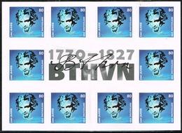 Bund 2020, Michel # 3520 ** 250. Geburtstag Von Beethoven, Selbstklebend Markenset - BRD