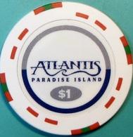 $1 Casino Chip. Atlantis, Paradise Island, Bahamas. S46. - Casino