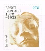 Bund 2020, Michel # 3521 ** 150. Geburtstag Von Ernst Barlach, Selbstklebend - [7] République Fédérale