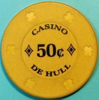 50¢ Casino Chip. Casino De Hull, Quebec, CAN. S46. - Casino