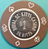 $1 Casino Chip. Royal St Kitts, Frigate Bay, St Kitts. S46. - Casino
