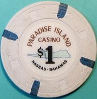 $1 Casino Chip. Paradise Island, Nassau, Bahamas. S46. - Casino