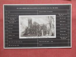 Check Off My News   Smith College  Massachusetts > Northampton  Ref 3803 - Northampton