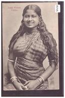 CEYLON - TAMIL WOMAN - NON CIRCULEE - B ( PLI D'ANGLE ) - Sri Lanka (Ceylon)