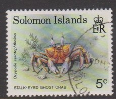 Solomon Islands S 733 1993 Crabs,5c Stalk Eyed Ghost, Used - Marine Life