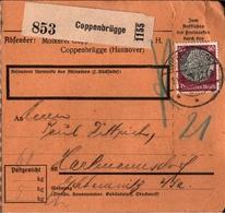 ! 1934 Paketkarte Deutsches Reich, Coppenbrügge N. Hartmannsdorf - Briefe U. Dokumente