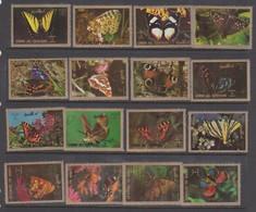 Umm Al Qiwain Butterflies, Used - Butterflies