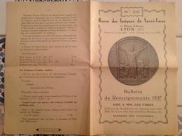 Insignes Du Sacre Coeur , Lyon Ainay 1937 , 8 Pages - Advertising