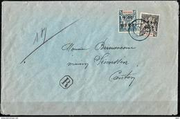 FRANCE !  Timbres D'Indochine Surchargés Sur LETTRE Vers CANTON De 1946 - China (1894-1922)