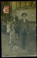 Cpa Carte Photo  Garçon Chevauchant Un âne    DEC19-19 - Burros