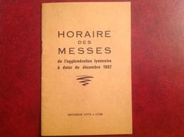 Horaire Des Messes à Lyon Et Agglomération , 1967, 18 Pages - Europe