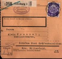 ! 1934 Paketkarte Deutsches Reich, Eilenburg N. Schköna B. Gräfenhainichen - Briefe U. Dokumente