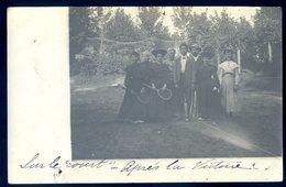 Cpa Carte Photo Partie De Tennis -- Carte Envoyée De Taulé à Landerneau   DEC19-19 - Tennis